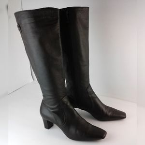 Cole Haan Brown Leather Knee High Heeled Boots 6.5